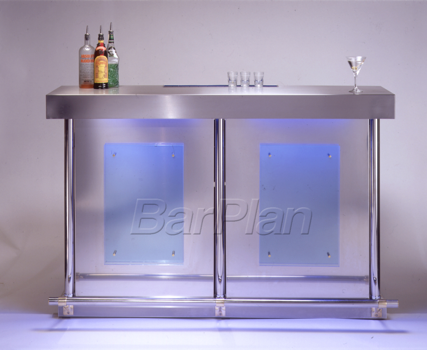 BarPlan Chroma Bar Medium Front in Blue LED