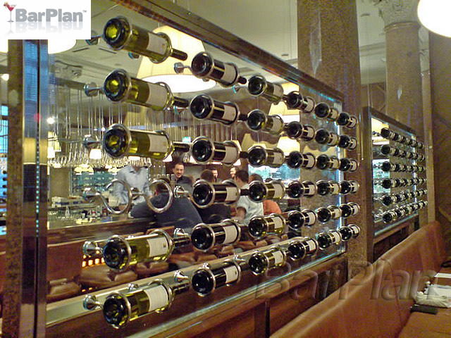 BarPlan Bespoke Wine Display wall