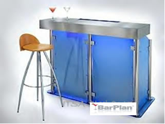 BarPlan Chroma Small Bar Front in Blue LED