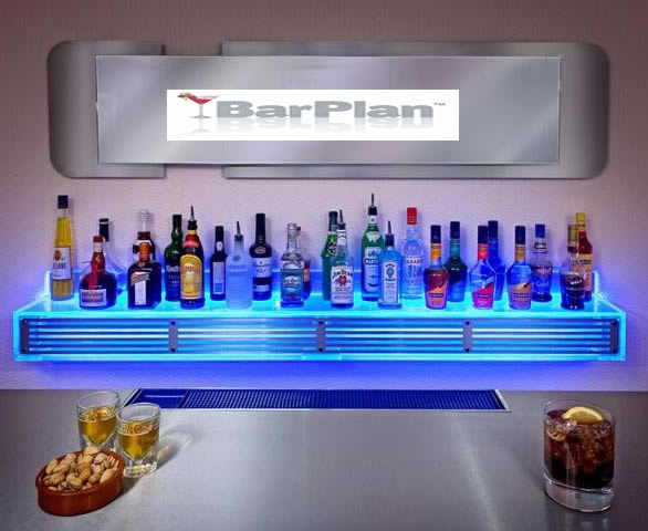 BarPlan Illuminated Back Bar Shelf